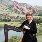 Celtic harp at the Red Rocks Amphitheater in Denver, CO.