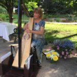 Celtic harp at Porter Hospice Residence in Littleton, CO.