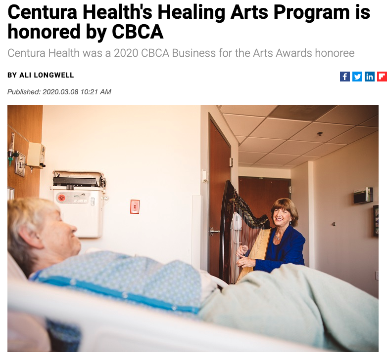 Centura Health's Healing Arts Program honored by CBCA