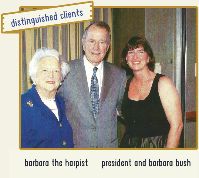 Barb meets President George H. Bush at a reception.